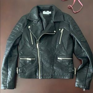 Topman Faux Leather Moto Jacket